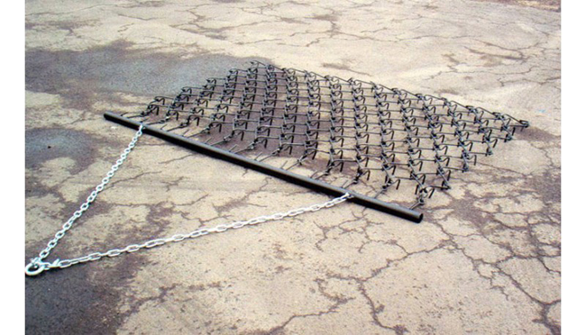 Single Flexible Tine Trailed Grass Harrows
