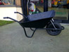 Easiload Black Steel Wheelbarrow