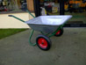 Landscaper Galvanised Twin Wheel Wheelbarrow