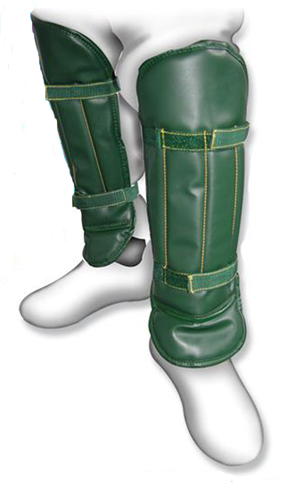 Green Padded Shinguards